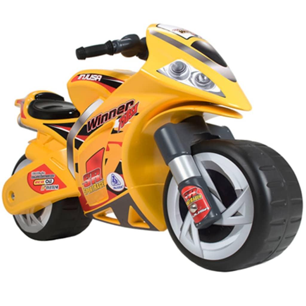 Injusa-Motocicletta-a-spinta-Winner-giochi-per-bambini-dai-3-anni-Giallo