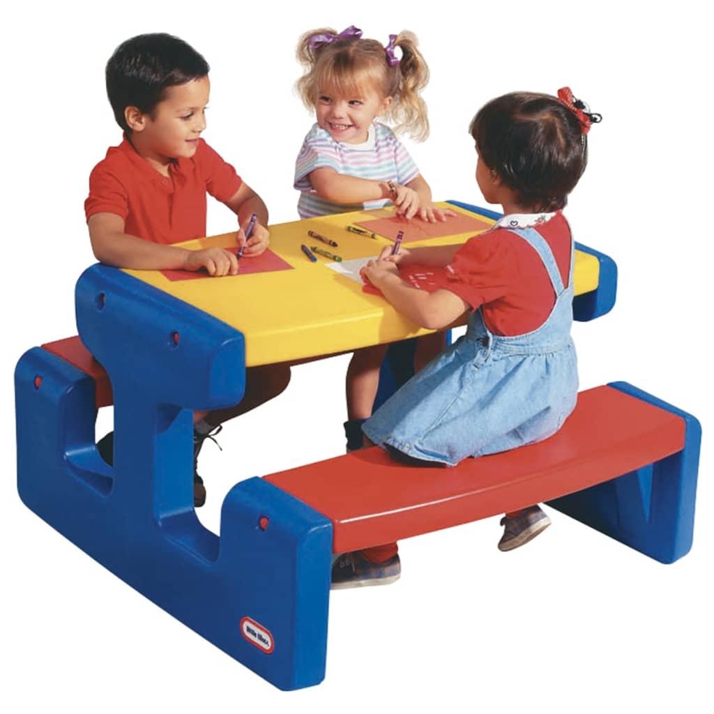 Little Tikes Grande table de pique-nique (primaire) (primaire) (primaire) pour enfants de 3 à 6 ans 2b7120