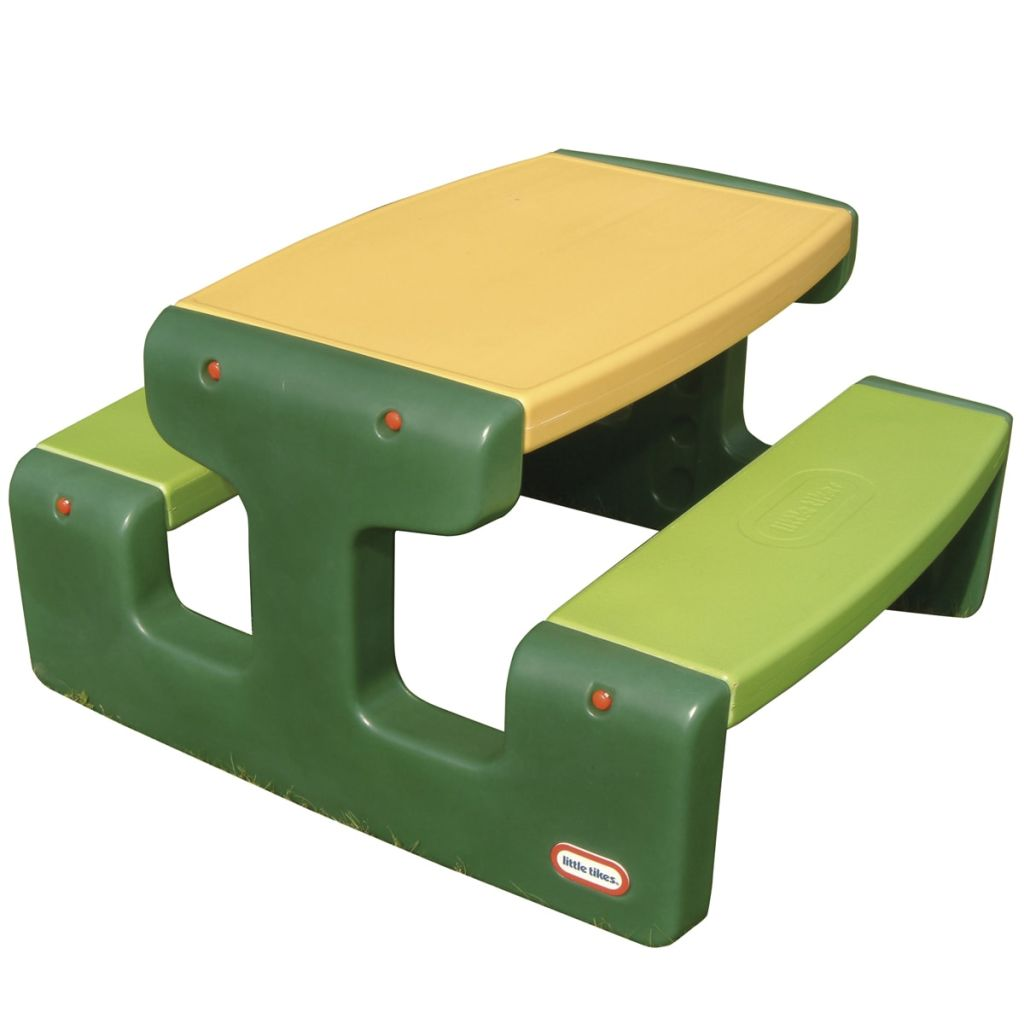 Little Tikes Large Picnic Table Green Kids Children Yard Outdoor