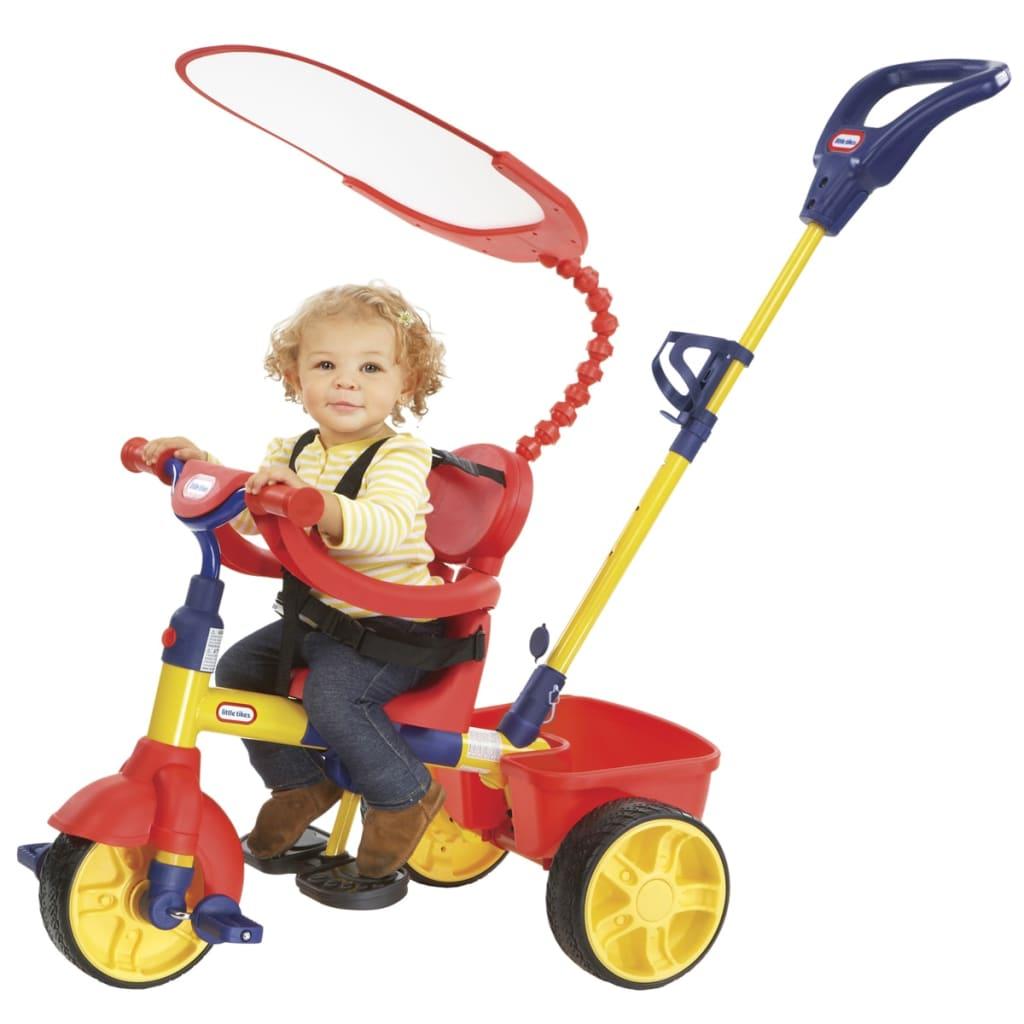 Little Tikes Tricycle 4-en-1 édition de base-primaire pour enfants Jaune Rouge