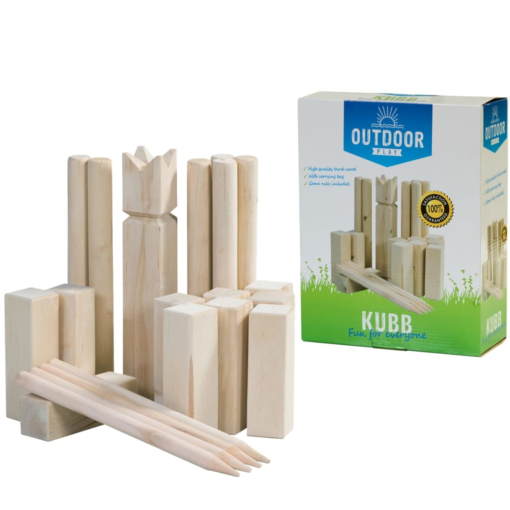 outdoor play kubb spiel wikinger schach wurfspiel g nstig kaufen. Black Bedroom Furniture Sets. Home Design Ideas