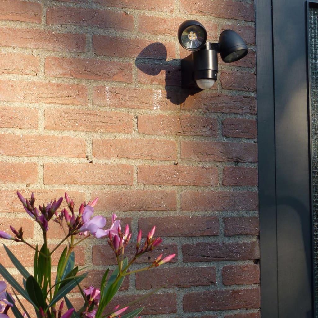 Luxform-Lampara-de-Pared-para-Jardin-con-Sensor-PIR-Umbriel-230-V-Plastico-Negro miniatura 3