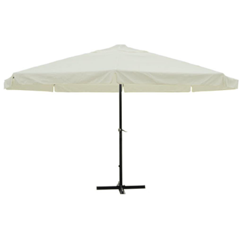 16 39 parasol white aluminum. Black Bedroom Furniture Sets. Home Design Ideas