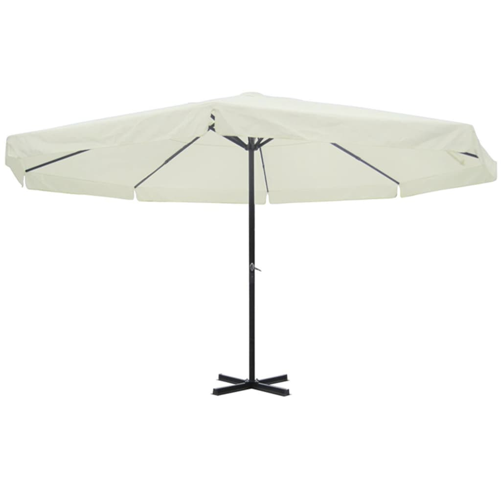 acheter vidaxl parasol blanc aluminium 500 cm pas cher. Black Bedroom Furniture Sets. Home Design Ideas