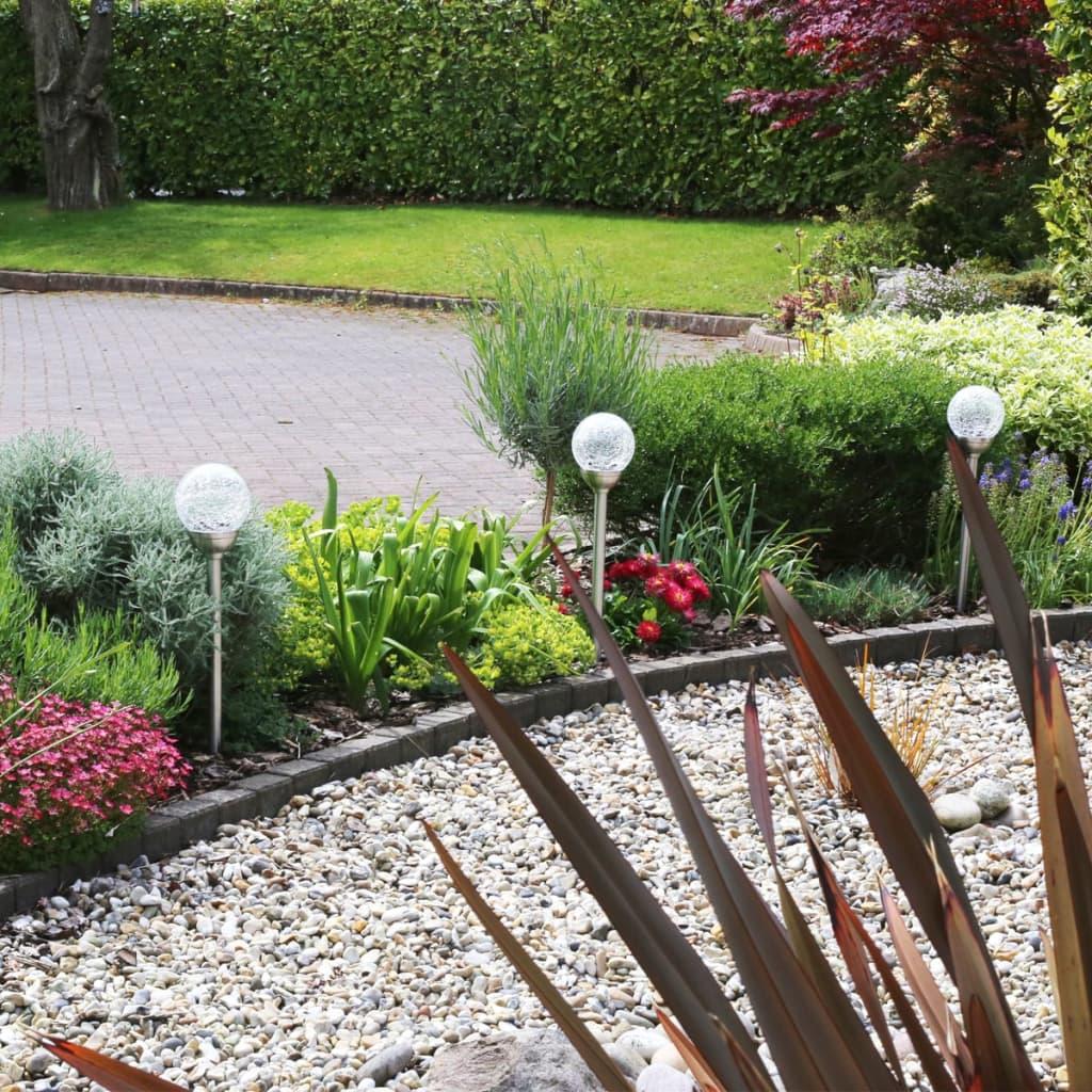 acheter luxform lampe de jardin led solaire palma 12 pcs acier inoxydable pas cher. Black Bedroom Furniture Sets. Home Design Ideas