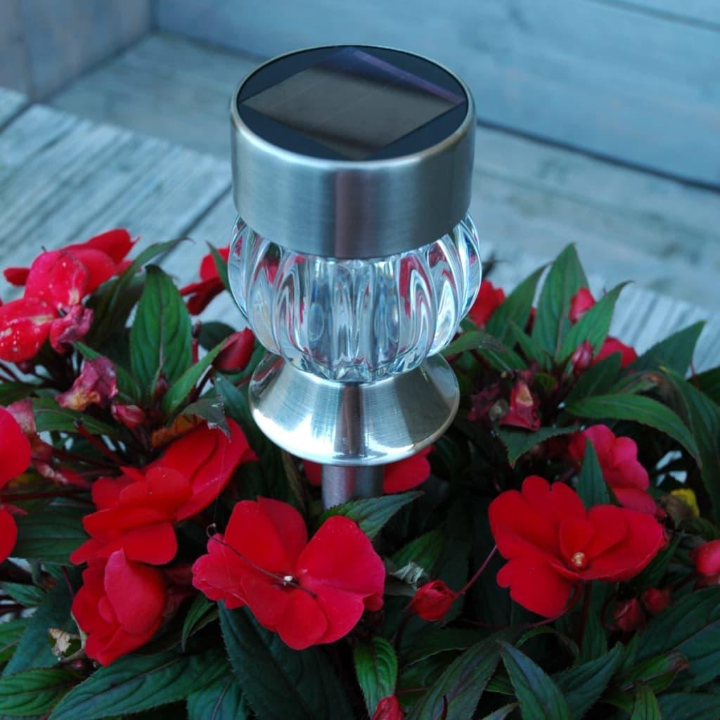 Luxform-Lampara-Solar-de-Jardin-LED-Tuscany-12-Unidades-Vidrio-Acero-Inoxidable