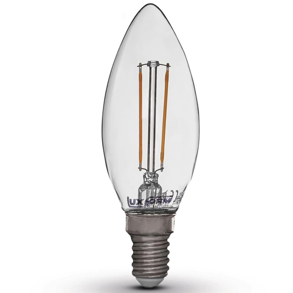 der luxform led gl hbirnen kerzenform kerzenlampen 2w e14. Black Bedroom Furniture Sets. Home Design Ideas