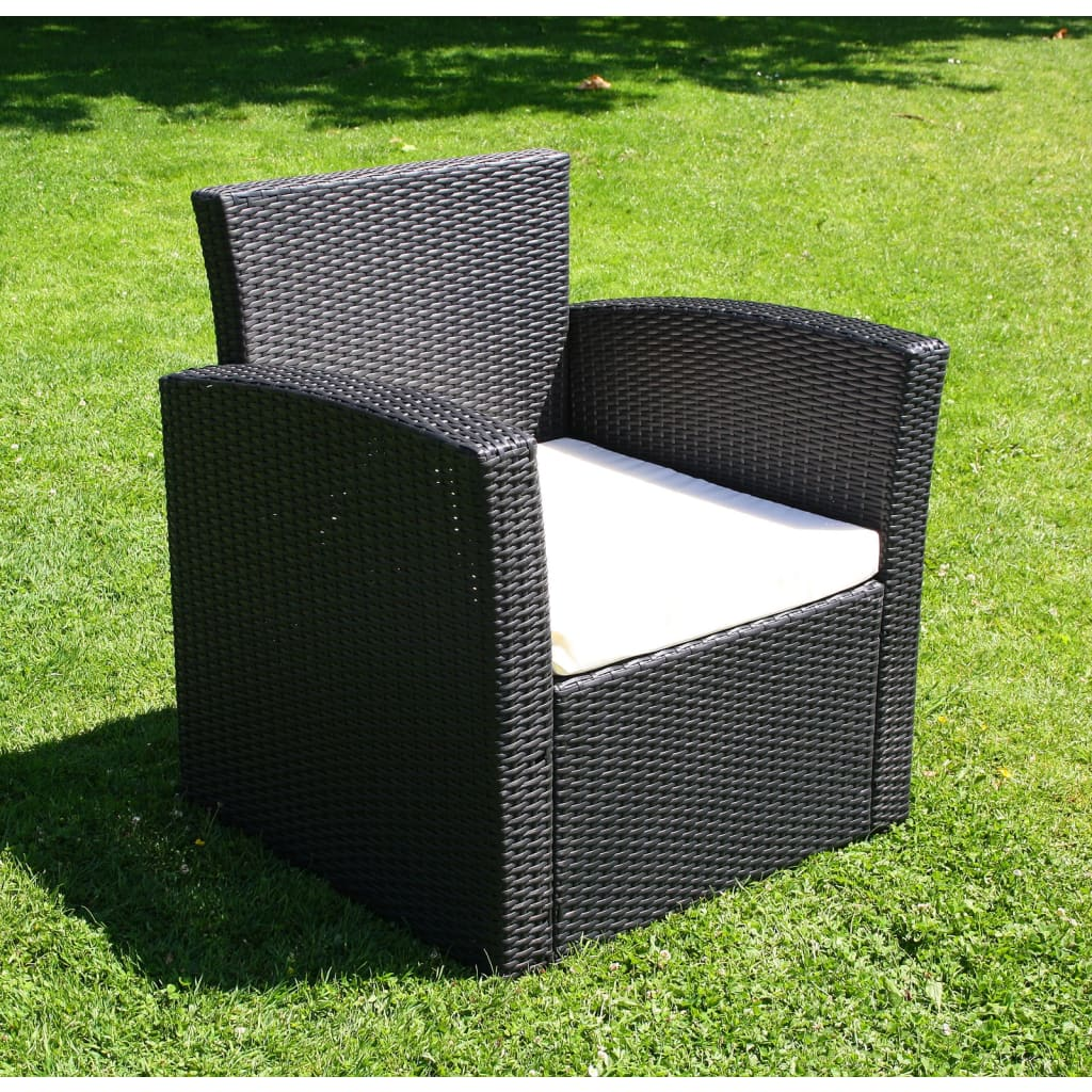 la boutique en ligne salon de jardin trap ze lounge noir en r sine tress e. Black Bedroom Furniture Sets. Home Design Ideas