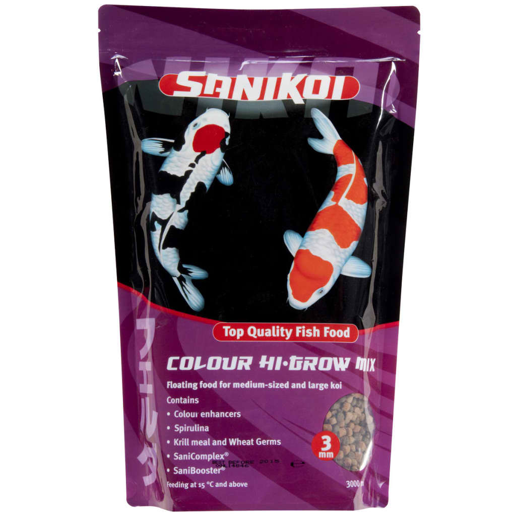 Sanikoi Colour Hi-grow 1 600 g Nourriture pour poisson Aliment pour poissons