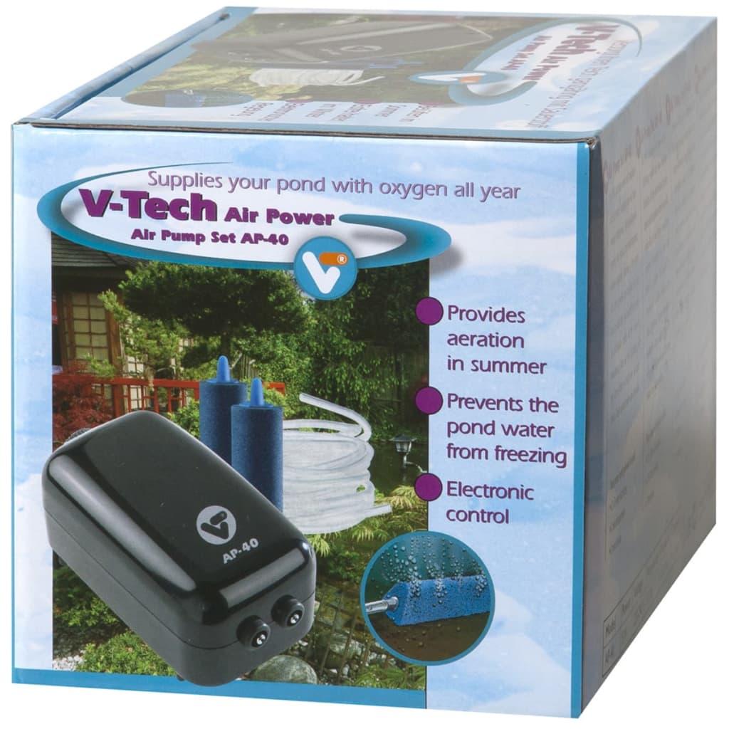 VijverTechniek (VT) Kit pompe à air V-Tech AP- 40 pour aquarium bassin de jardin