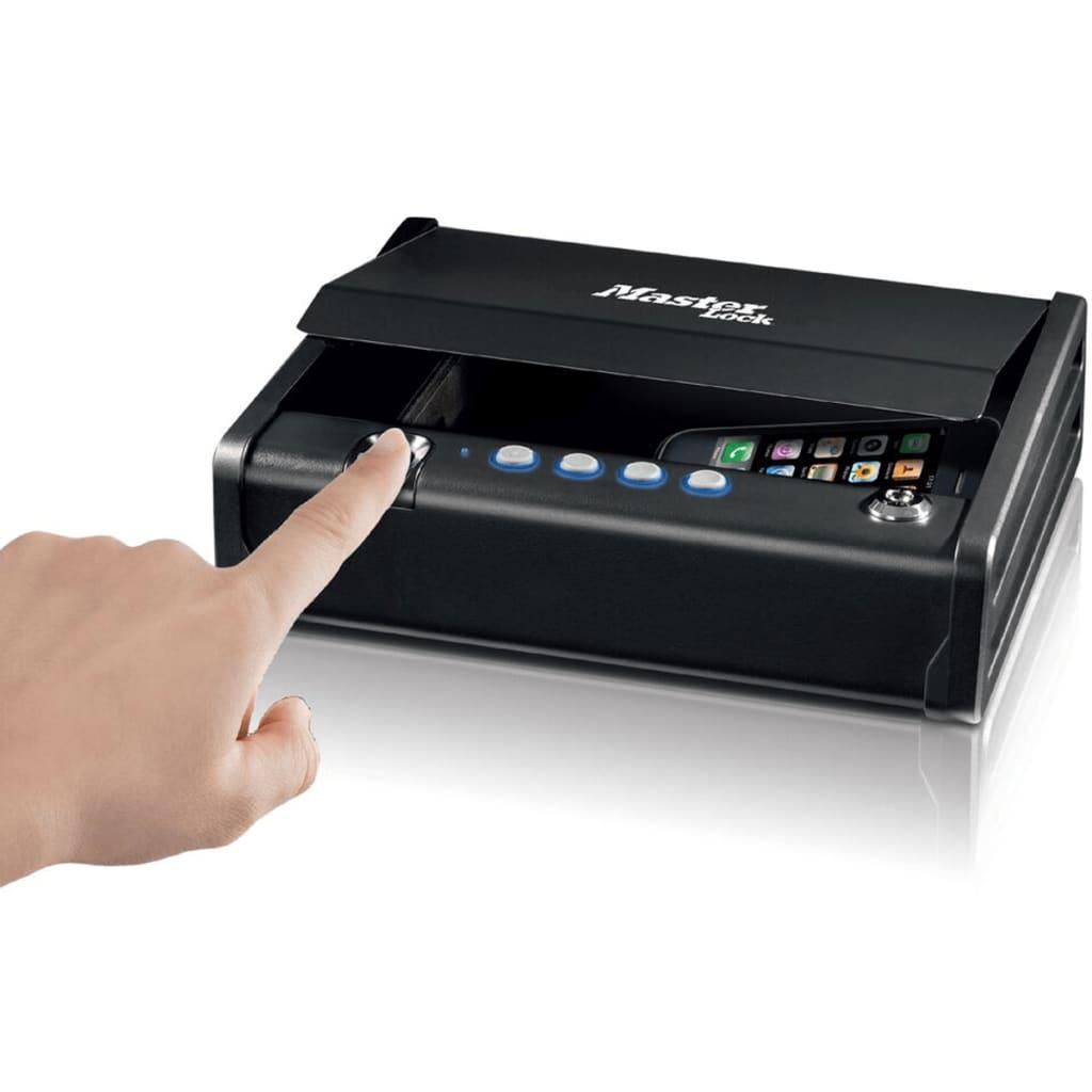 master lock mld08eb kleine dokumentenbox mit biometrischem schloss g nstig kaufen. Black Bedroom Furniture Sets. Home Design Ideas
