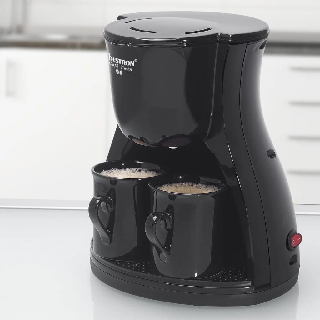 der bestron acm8007be kaffeemaschine mit 2 tassen 450 w. Black Bedroom Furniture Sets. Home Design Ideas