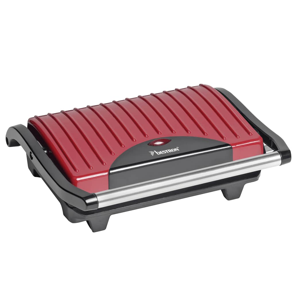 bestron panini grill 700 w red apg100r. Black Bedroom Furniture Sets. Home Design Ideas