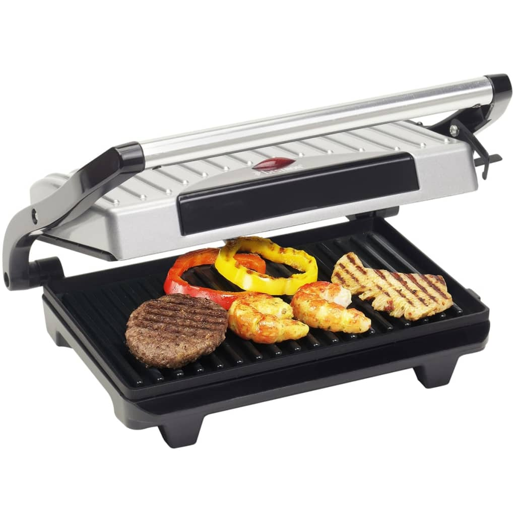 bestron panini grill 700w zilver apg100s online kopen. Black Bedroom Furniture Sets. Home Design Ideas