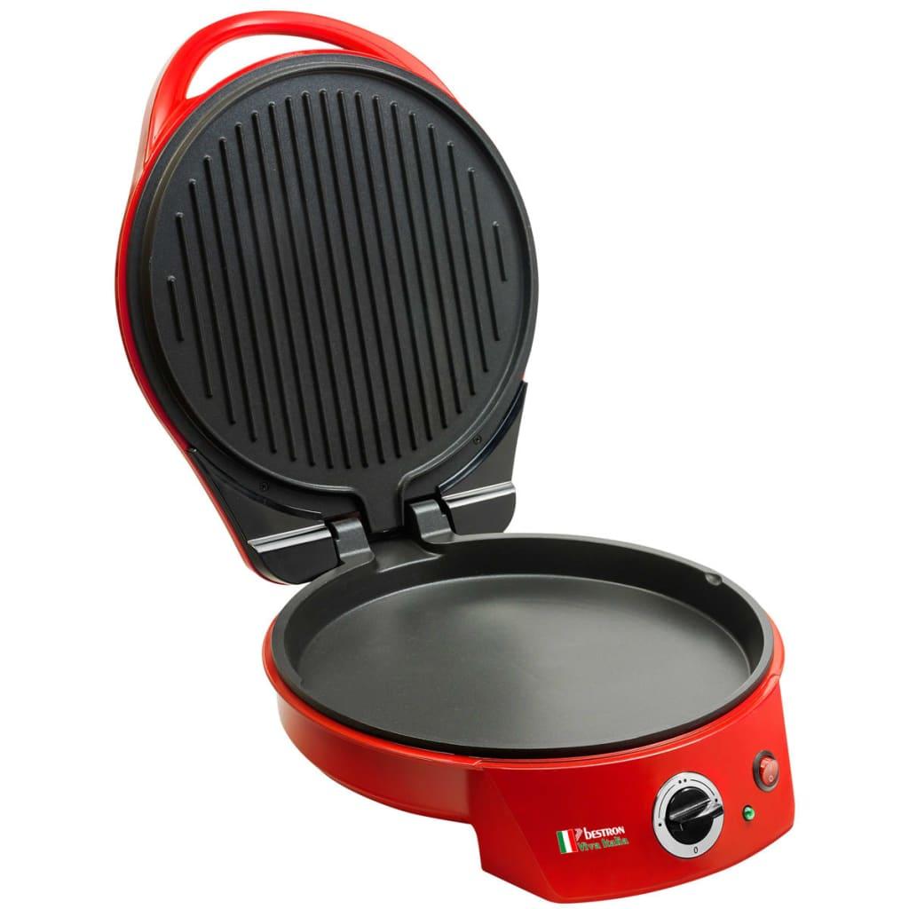 Afbeelding van Bestron Pizza Maker / Tafel Grill 1800 W Red APZ400