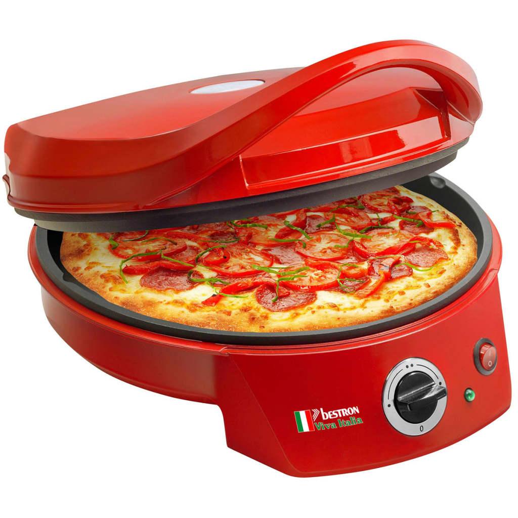 BESTRON APZ400 pizzaugn/bordsgrill 1800 W röd