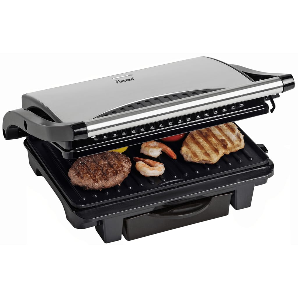 bestron panini grill 1000 w asw113s. Black Bedroom Furniture Sets. Home Design Ideas