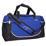 Avento srednje velika črna / kobalt modra športna torba 50TD