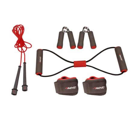 Avento Fitness-Set grau/rosa/schwarz 41VE