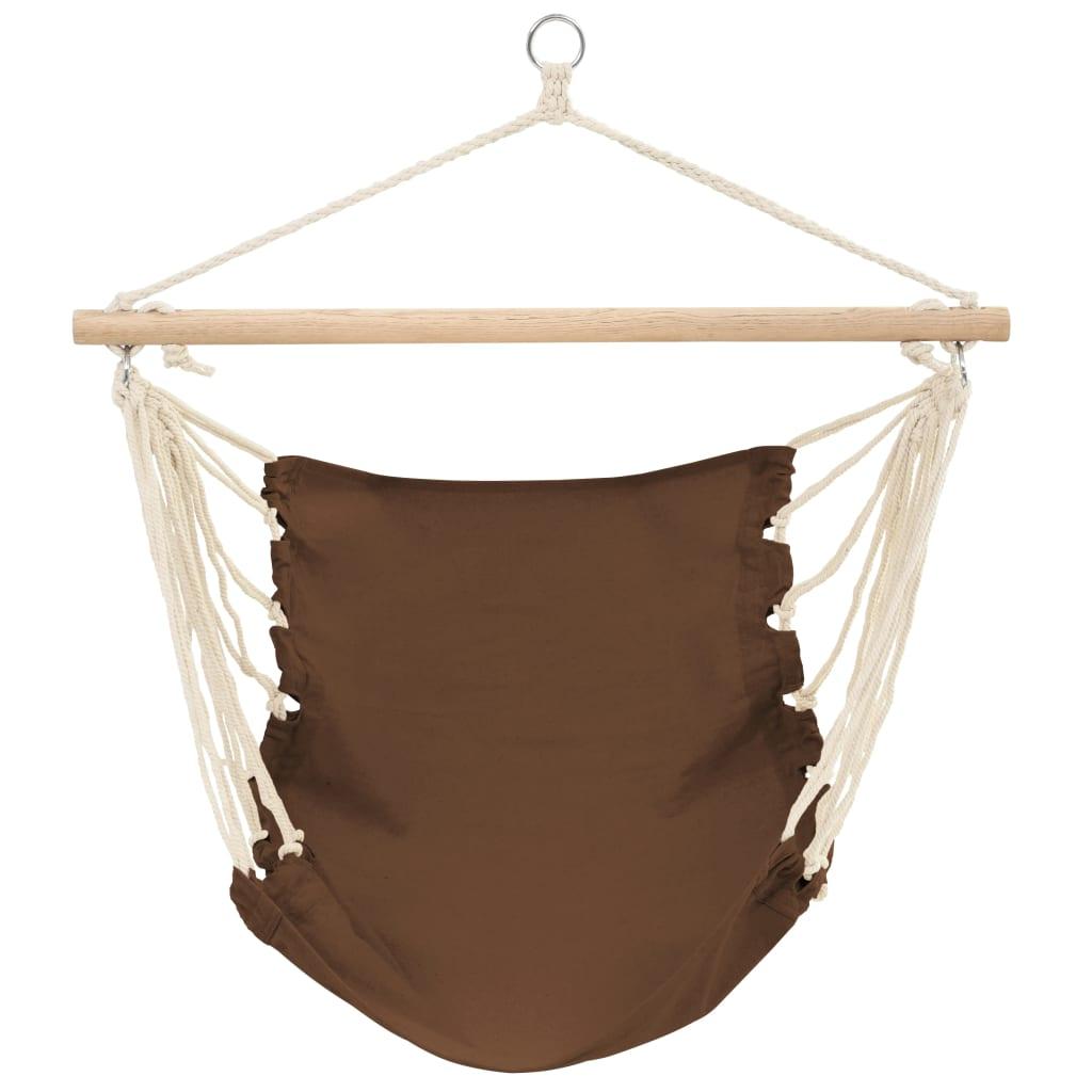 Hamaca silla 100 x 80 cm algod n marr n tienda online for Amazon hamacas jardin