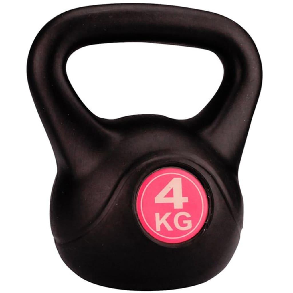 Avento KettleBell - 4 kg - Zwart/Fuchsia