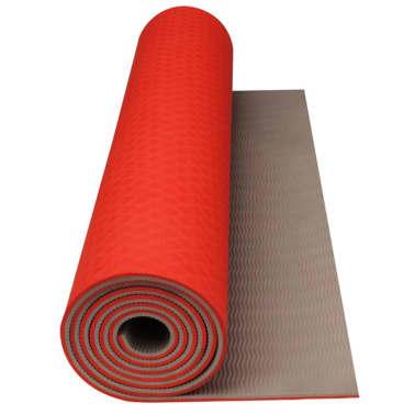 Avento Fitness/Yoga-Matte Leuchtorange/Beige 41WC[1/3]
