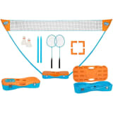 Get & Go Instant Badminton Game Set Blue and Orange 65KA