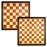 Abbey spil brikker / skakbræt board træ brun / ecru 49CG