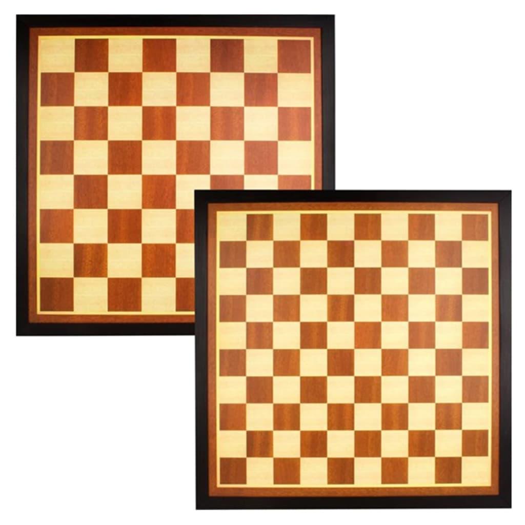 Afbeelding van Abbey Game schaak- en dambord hout bruin/ecru 49CG