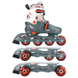 Nijdam junior inline-skates 30-33 grijs/rood/wit 52QM