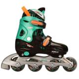 Nijdam junior inline-skates 30-33 zwart/groen/fluoriserend oranje 52SB