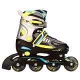Nijdam Junior Inline-Skates 30-33 Schwarz/Limette/Blau/Anthrazit 52SP
