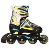 Nijdam Junior Inline Skates 38-41 Schwarz/Limette/Blau/Anthrazit 52SP