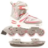 Nijdam patins para gelo 35-38 branco/prateado/rosa 52SZ