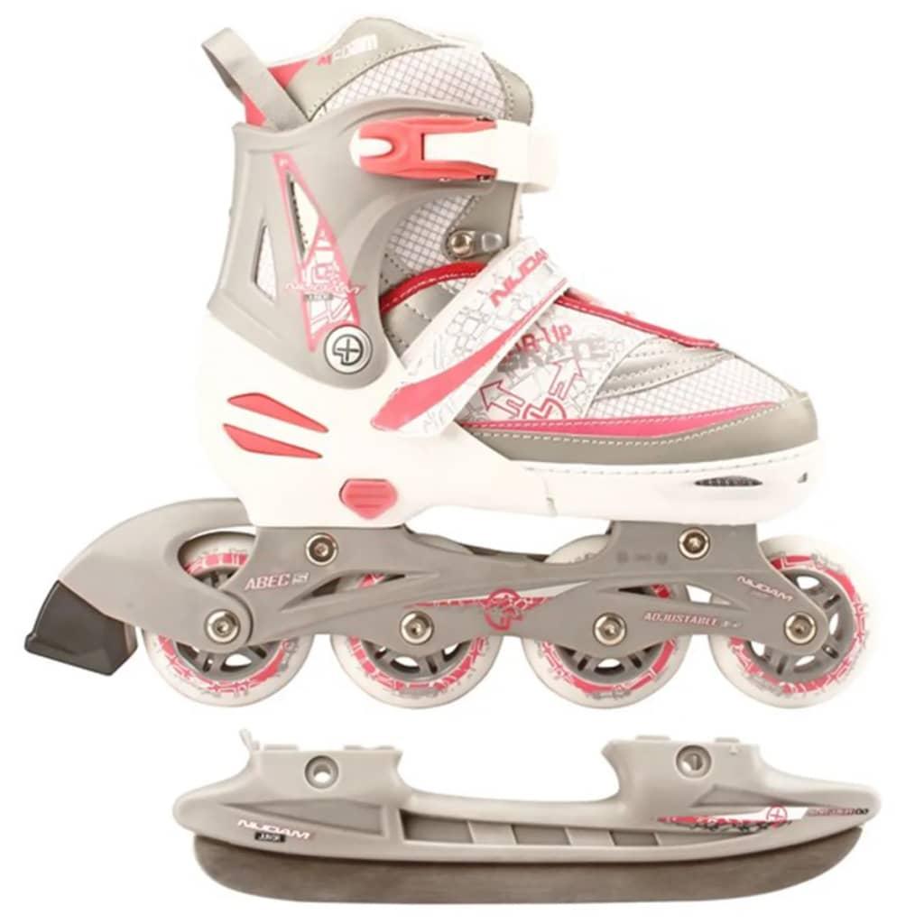 Nijdam 52SZ Inline 2 az 1-ben korcsolya 39-42 fehér/ezüst/rózsaszín