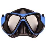 Masque de plongée sous-marine Waimea en caoutchouc noir/bleu cobalt