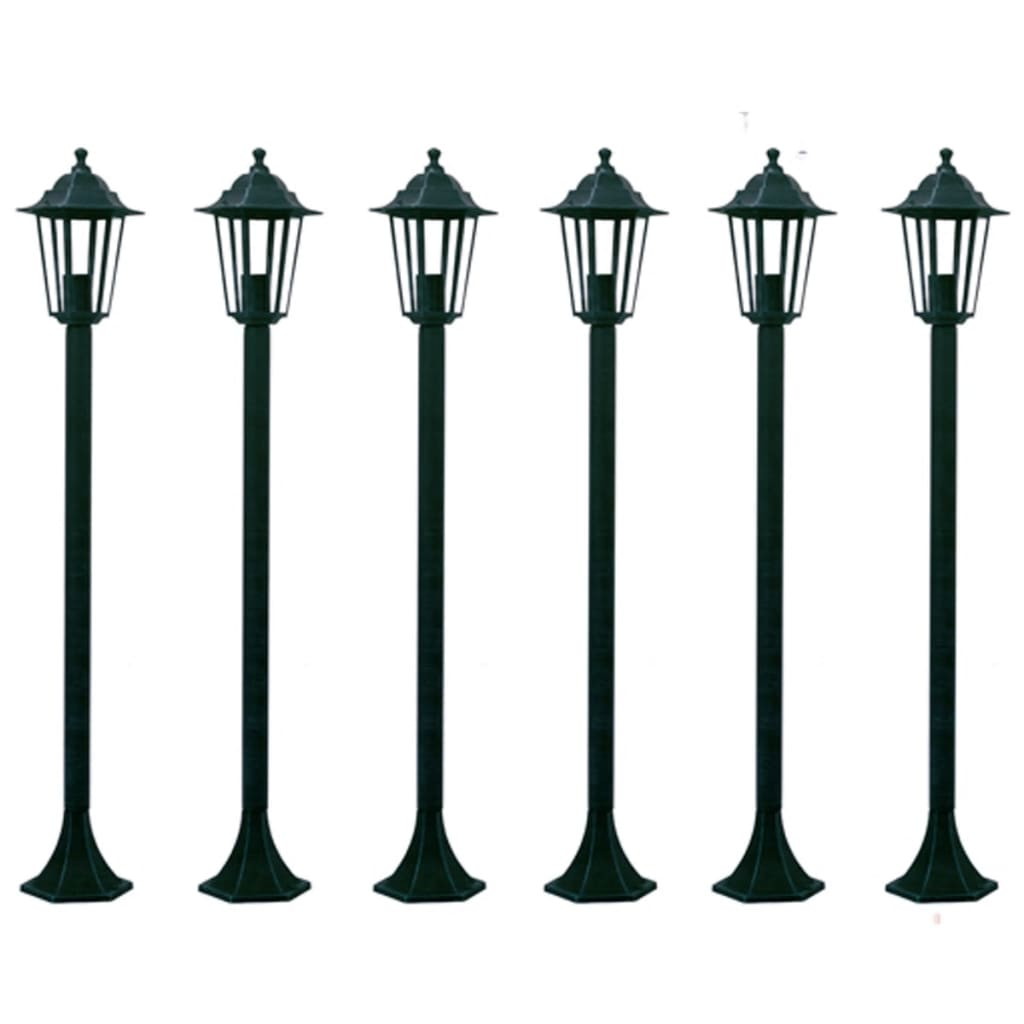 vidaxl-6-garden-light-post-110-cm-dark-green