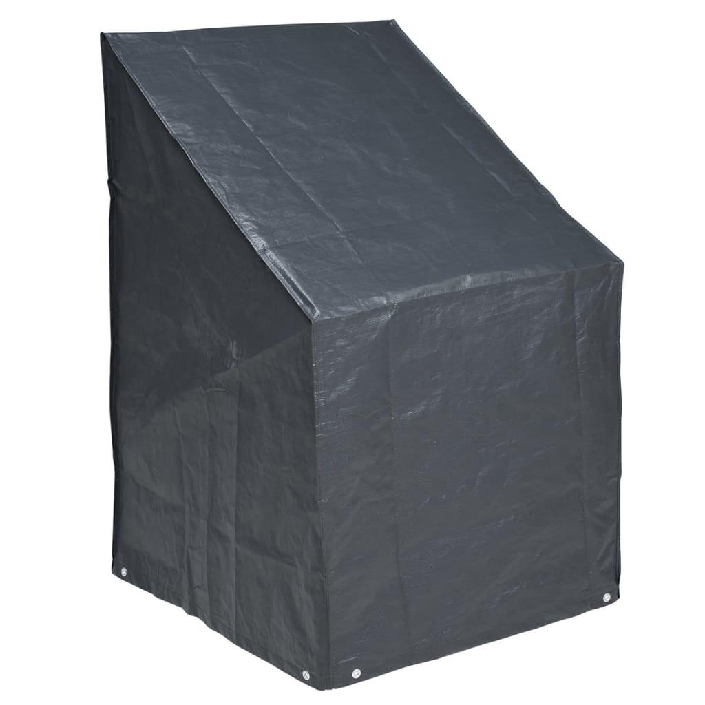 Nature Överdrag till staplade stolar 110 x 68 cm PE Mörkgrå