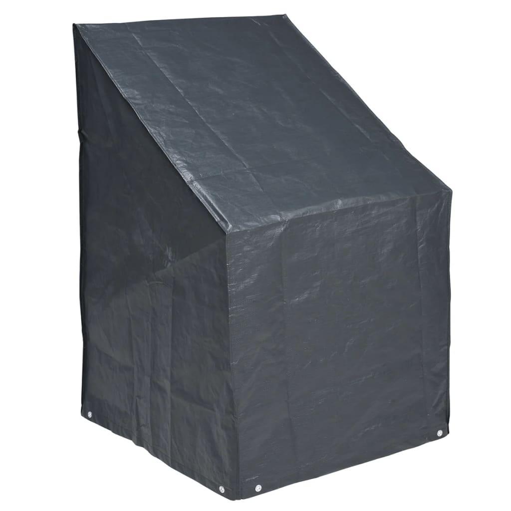 Nature Abdeckung für gestapelte Stühle 8 x 68 cm PE dunkelgrau 6030606