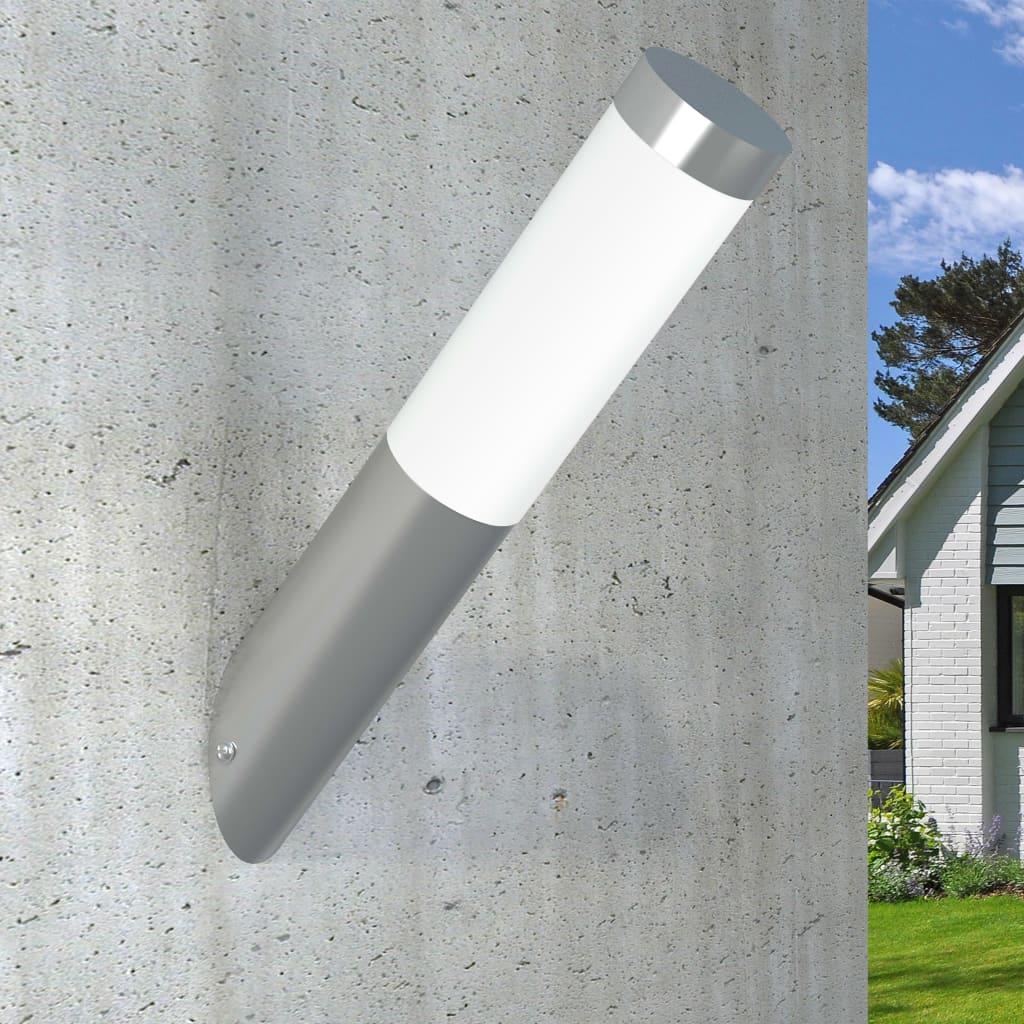 vidaXL-Lampara-de-Pared-de-Jardin-Acero-Inoxidable-y-Plastico-Aplique-de-Patio miniatura 8