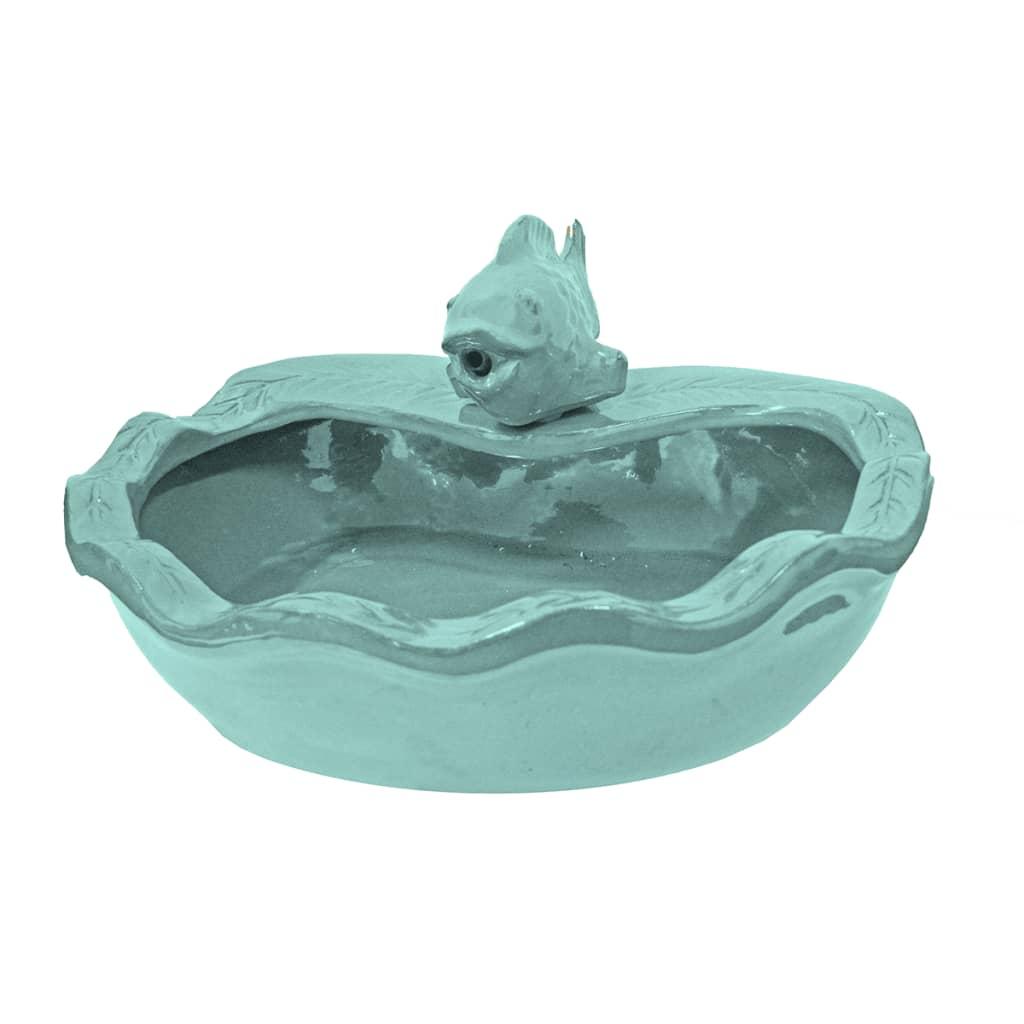 De ubbink acqua arte arkasa 1308319 is een waterval met een kleine fontein in de vorm van een vis en is ...
