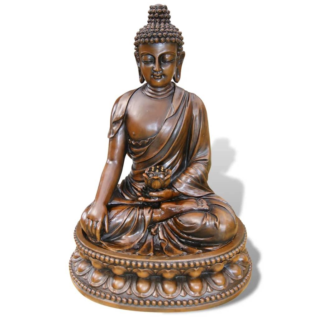 De ubbink acqua arte negara 1387066 is een waterval die bestaat uit een buddha figuur met led verlichting en ...