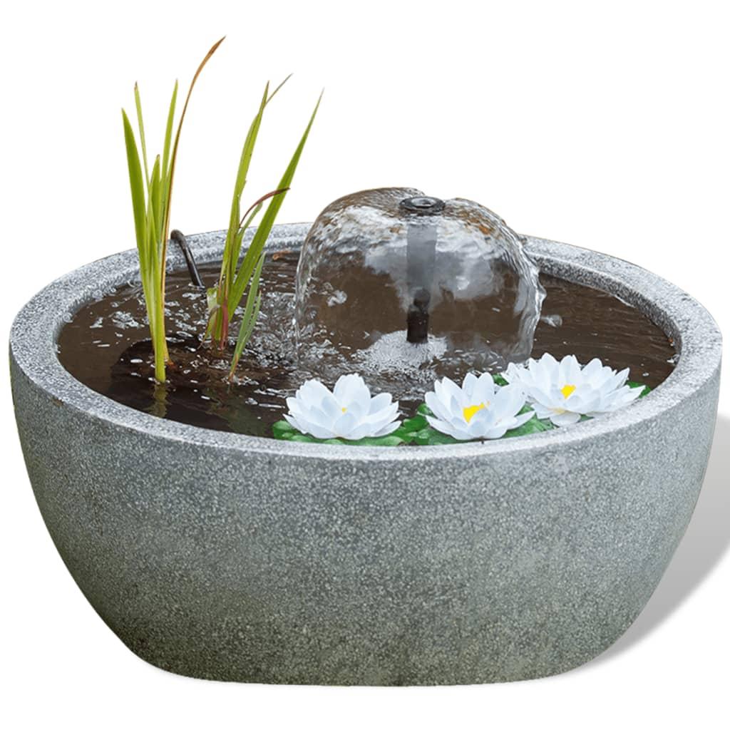 Estanque redondo ubbink 1387078 con bomba de agua y for Bombas de agua para estanques de jardin