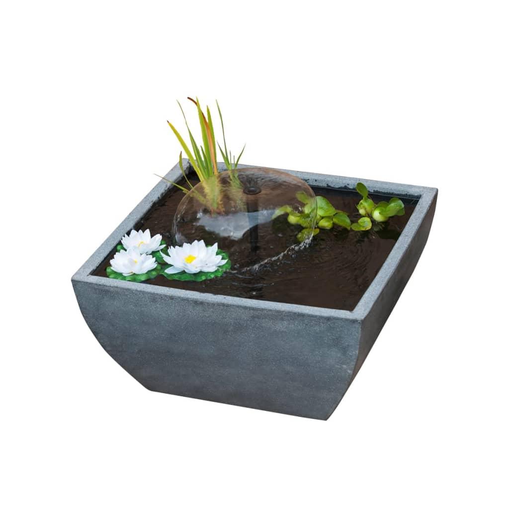 Estanque cuadrado ubbink 1387081 con bomba de agua y for Bombas de agua para estanques de jardin