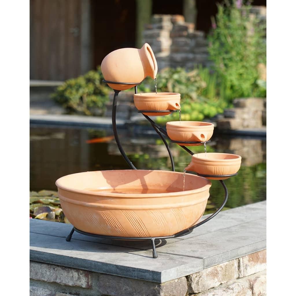 Fuente de agua decorativa peque a de terracota ubbink for Fuente decorativa interior