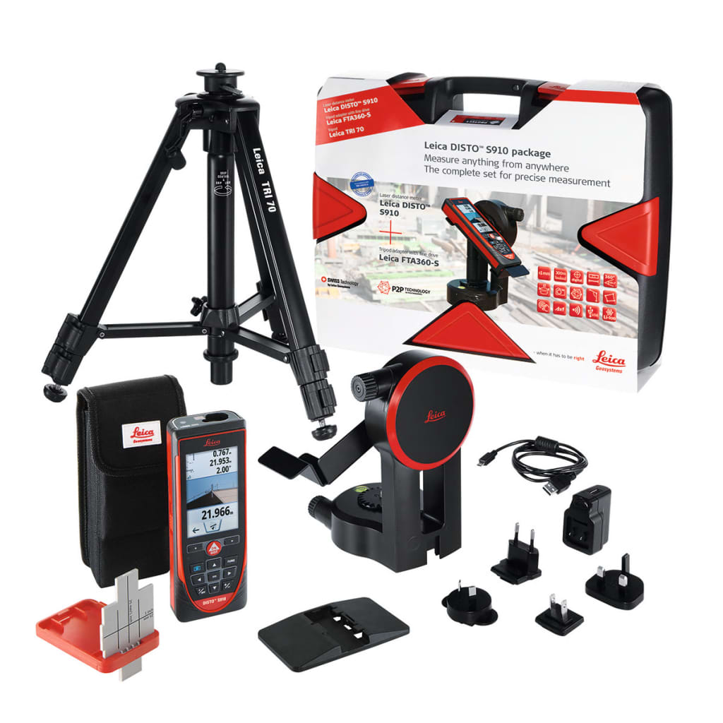 acheter kit t l m tre laser leica disto s910 avec mallette pas cher. Black Bedroom Furniture Sets. Home Design Ideas