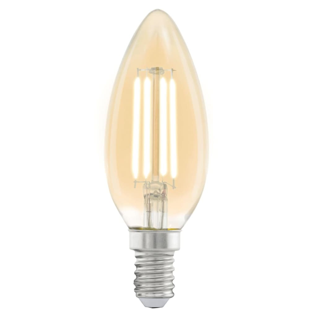 eglo vintage style led light bulb e14 c37 amber 11557. Black Bedroom Furniture Sets. Home Design Ideas