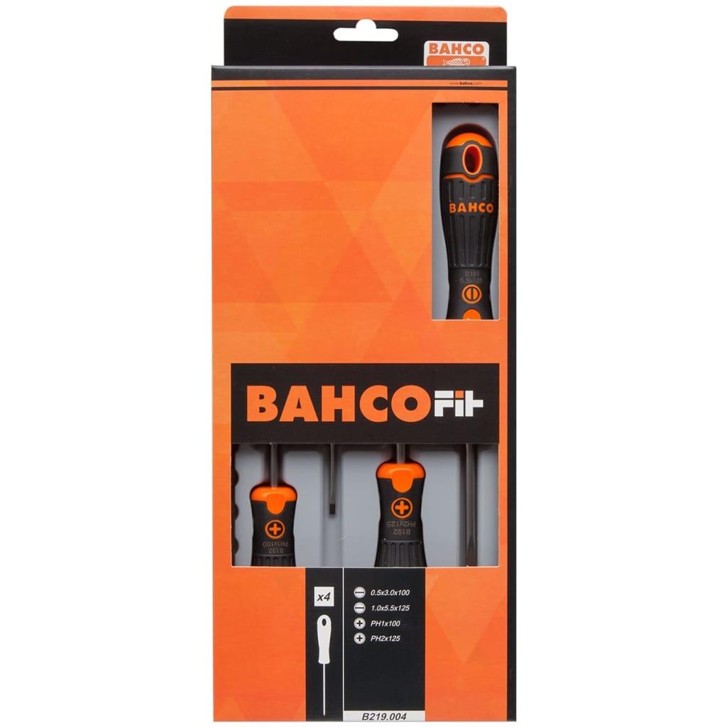 BAHCO B219.004 Skruvmejselsats med 4 st. mejslar