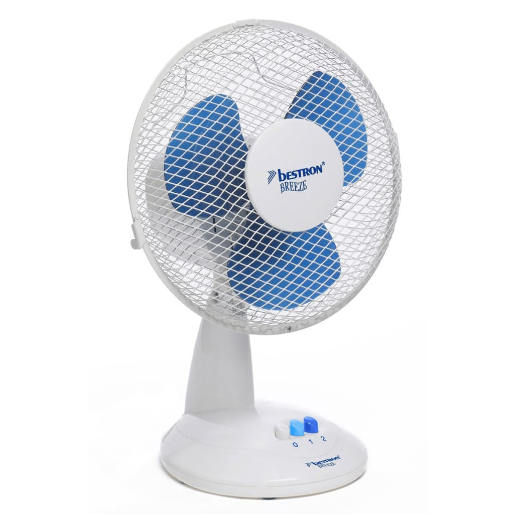 Bestron Desk Fan 27 Cm 20 W White Dft27w Vidaxl Co Uk