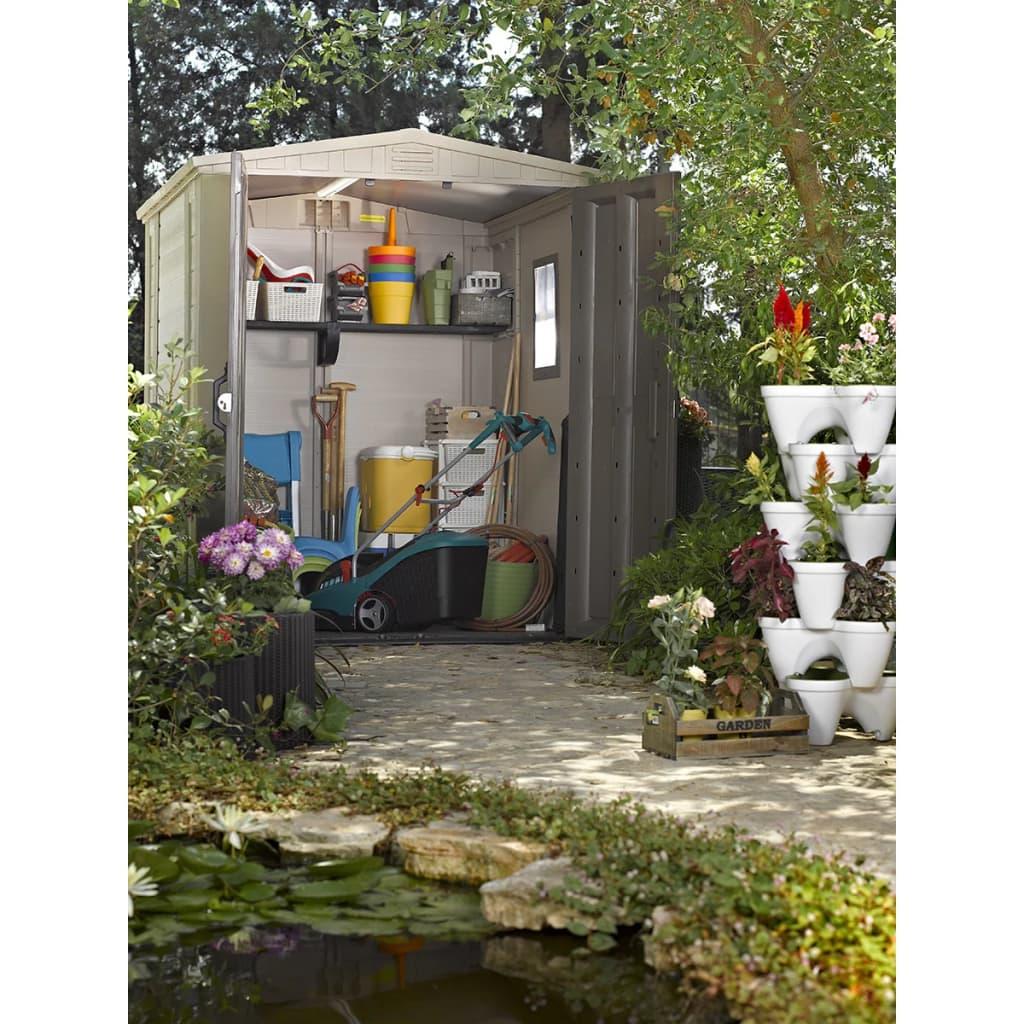 la boutique en ligne abri de jardin factor 6 x 6 keter 17197898. Black Bedroom Furniture Sets. Home Design Ideas